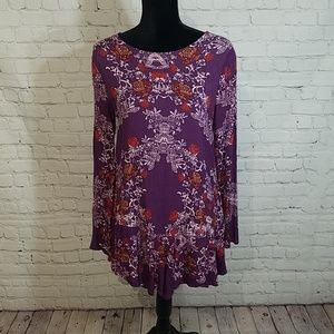 NWOT FREE PEOPLE floral open back dress, sz M